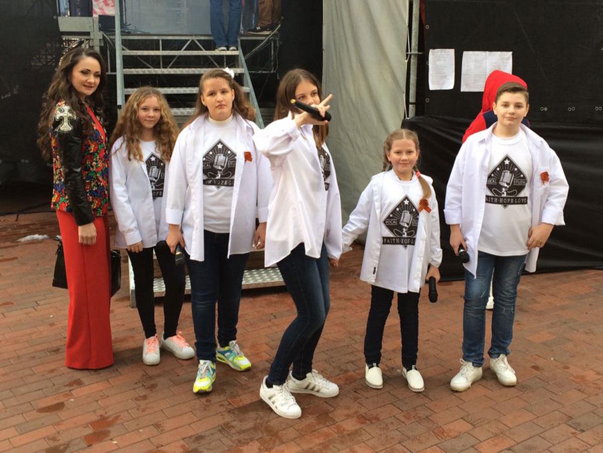 Выступление на концерте, посвященном Дню Победы в Балашихе